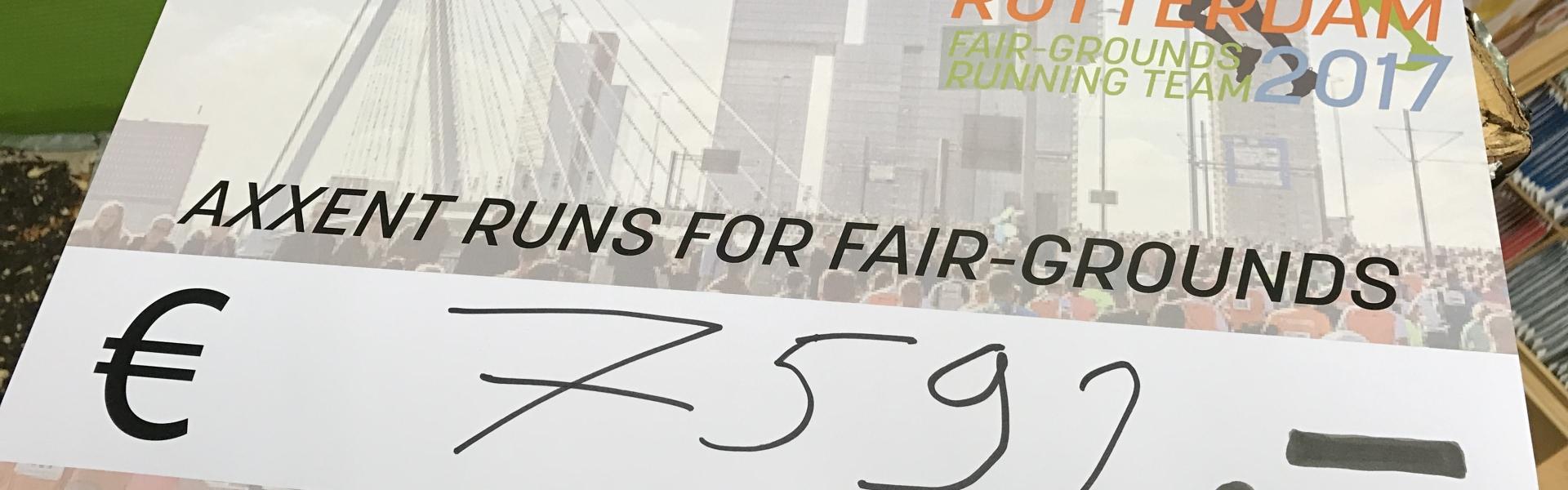 Interim score sponsor activity Fair-grounds running team