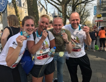 Fair-grounds running team finished the Rotterdam Marathon